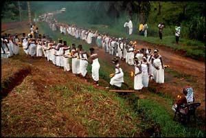 Bwiti procession